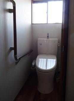 トイレ 手摺り取り付け