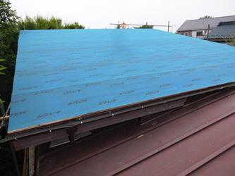 屋根 防水シート張り