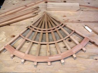 天井細工 扇