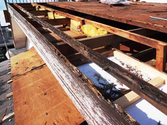 屋根解体 下地