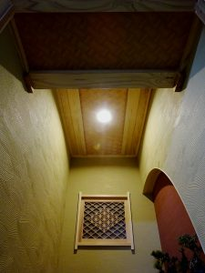 天井網代張り・壁クロス貼り