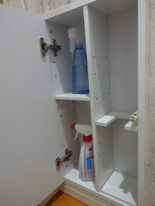 トイレ掃除道具収納