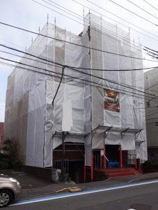 4階ビル 足場工事