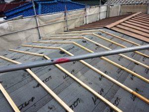 2階屋根防水シート