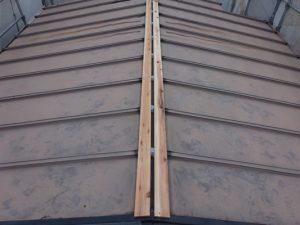 2階屋根棟木交換