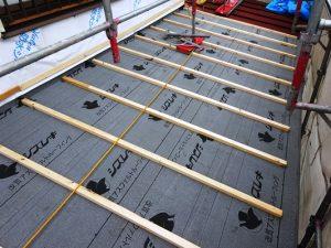 1階屋根垂木取付け