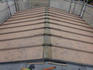 2階屋根棟木撤去