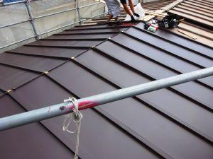 2階屋根桟葺き屋根