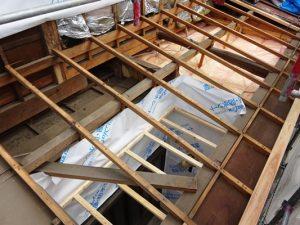 1階屋根解体