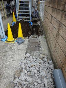 排水管撤去