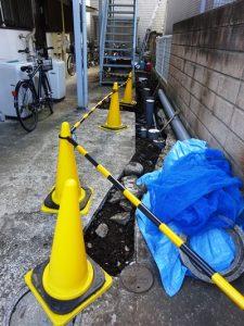 排水管工事完了