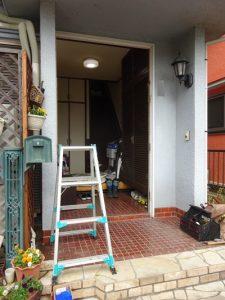 玄関ドア撤去