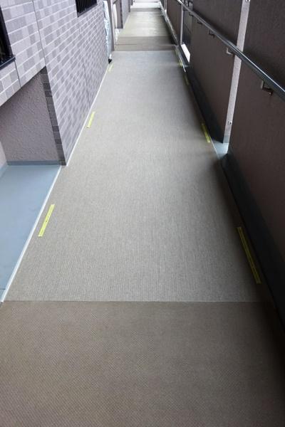廊下シート貼り 完成
